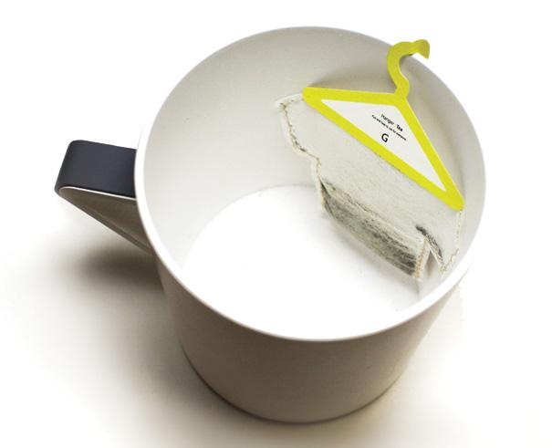 wieszak na torebki herbaty
