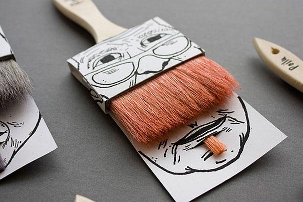 pędzle do malowania z wąsami
